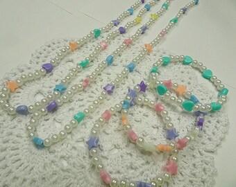 5-Piece Kawaii Rainbow Jewelry Set