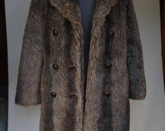 vintage fur coat, faux fur coat, vintage coat, vintage womens coat, womens fur coat, fur coats for women, vintage fur, fur coat