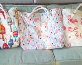 Custom beach bags order for A.