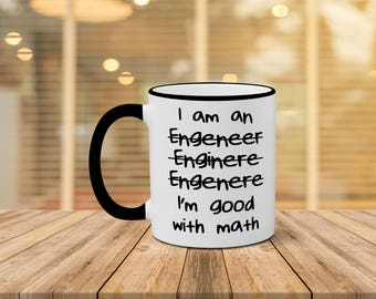 Engineer Mug, Funny Engineer Mug, I'm Good With Math Mug, Christmas Gift, Birthday Gift, Funny Coffee Mug For Engineer