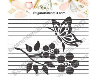 Butterfly cookie stencil Nb1591