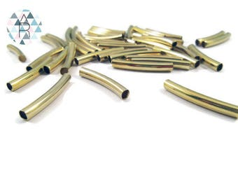 20 20 mm gold metal Tube shaped beads