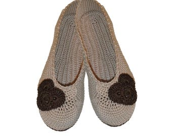 Valentine's day gift, Slippers with hearts, ballet shoes, Valentines day slippers, gift for her