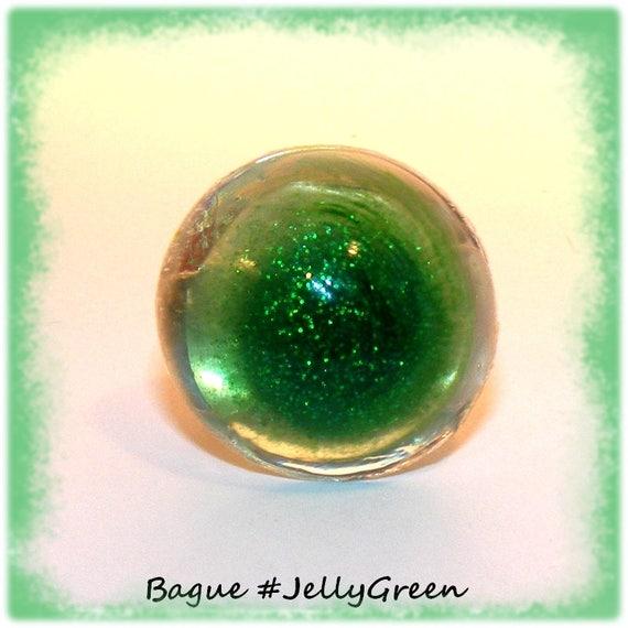 Bague Résine  [Jelly Green]
