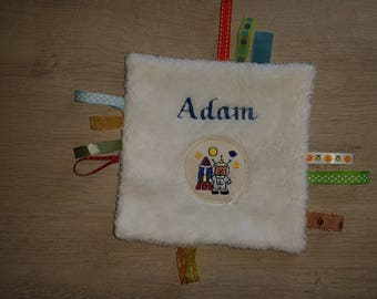 """taggy personalized name """"monsters"""" plush baby"""