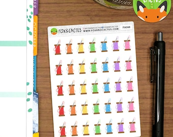 Needle and thread - Crafting Craft Sewing - Planner Stickers (F0088)