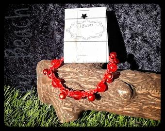 Sparkly Red Tinkle Bracelet