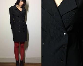 Glamour 80's secretary black dress