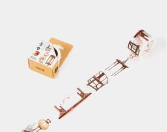 Chinese Antique Furnitures - Home Furnitures - Furniture Washi Tape - Interior Design - Home Washi Tape (30mm X 5m)
