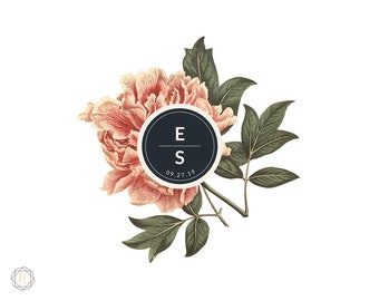 Custom Logo Design, Wedding Monogram, Wedding Logo, Photography Logo, Watercolor Logo, Monogram Logo, Personalized Logo, Business Logo, #VCS