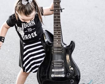 Born to rock shirt | Rock on shirt | Rocker kid shirt | Rockstar shirt | Rock and roll bodysuit | Born to rock baby | Rocker toddler | Rock