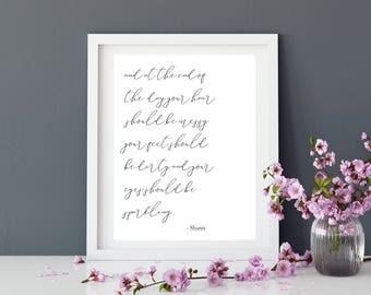 Quote | Prints Inspiration Print | Typography | Home Decor