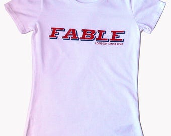 Fable London Since 1994 Print White T Shirt