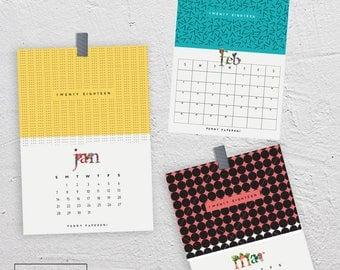 Calendar 2018 / Printable / DIY / Calendar 2018 / Calendar Print / Wall Art / Wall Calendar / Desk Calendar
