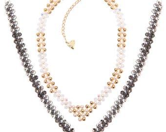 Jewellery Pattern Download / Kleshna Very V Beaded Necklace