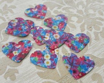Daisy Pansy Floral Flowers Hearts Retro Table Confetti Childrens Birthday Party New Years Christening Wedding Table Decoration Confetti