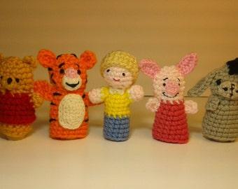Winnie the Pooh Finger Puppets, Puppets, Tigger, Eeyore, Piglet