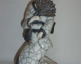 Raku ceramic Geisha