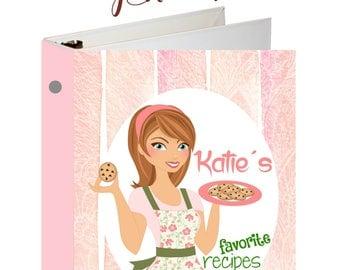 Recipe Binder, Personalized Binder, Custom Binders, Recipe Notebook, 3 Ring Binder, Reipe Book, Baking Gifts, Bridal Shower Recipe Book