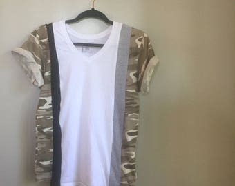 Sectioned Camo Tee - Size Small