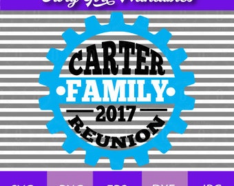 Family Reunion Cogwheel Blank SVG Cutting File Bundle eps, dxf, png, jpg Format