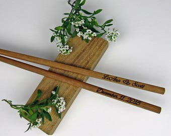 100pr Engraved Chopsticks, Personalized Chopsticks, Bamboo Chopstick, Wedding Favors, Rustic Chopstick, Wedding Chopsticks,