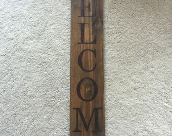 Custom Personalized Wood Burned Welcome Sign Home Decor