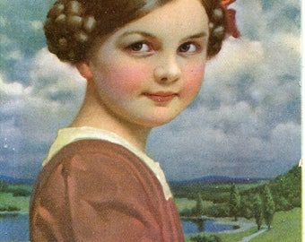 Swiss little girl vintage