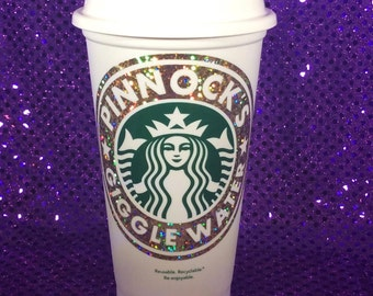 Pinnock's Giggle Water Customized Starbucks Travel Cup