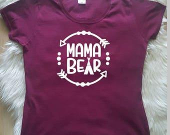 Mama Bear Top, Mama Bear T-shirt, Mama Bear Tee