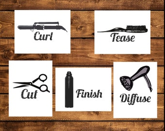 salon decor printable hair salon decor printable instant download wall art hair salon - Fantastisch Badezimmereinrichtung