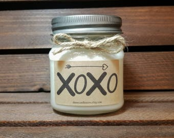8oz XOXO Candle - Kisses Candle - Birthday Gift for Boyfriend - Husband Gift - Romantic Gift - Hugs Gift - Birthday Gift for Husband