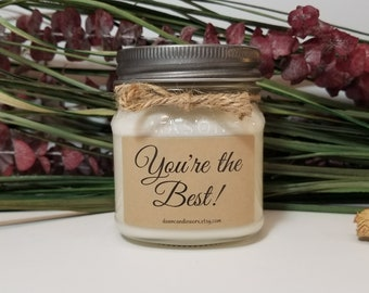 Employee Appreciation Gift - Coworker Gifts - Boyfriend Gift - Soy Candles Handmade - Girlfriend Gift - Teacher Gift - Bridal Party Gift