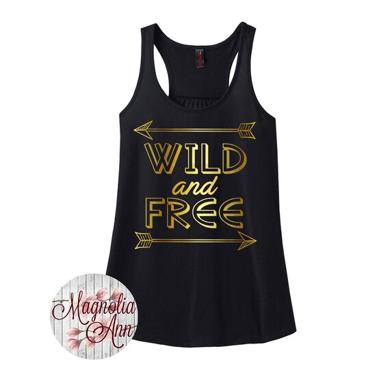 Wild And Free, Arrow,  Women's Racerback Tank Top in 9 Colors in Sizes Small-4X, Plus Size