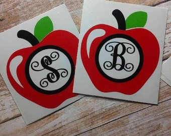 Teacher Decal/Teacher Monogram/Monogram/ Vinyl Decal/ Dietitian Decal/ Nutritionist Decal/Yeti Cup Decal/ Monogram Decal Decal/HTV Decal