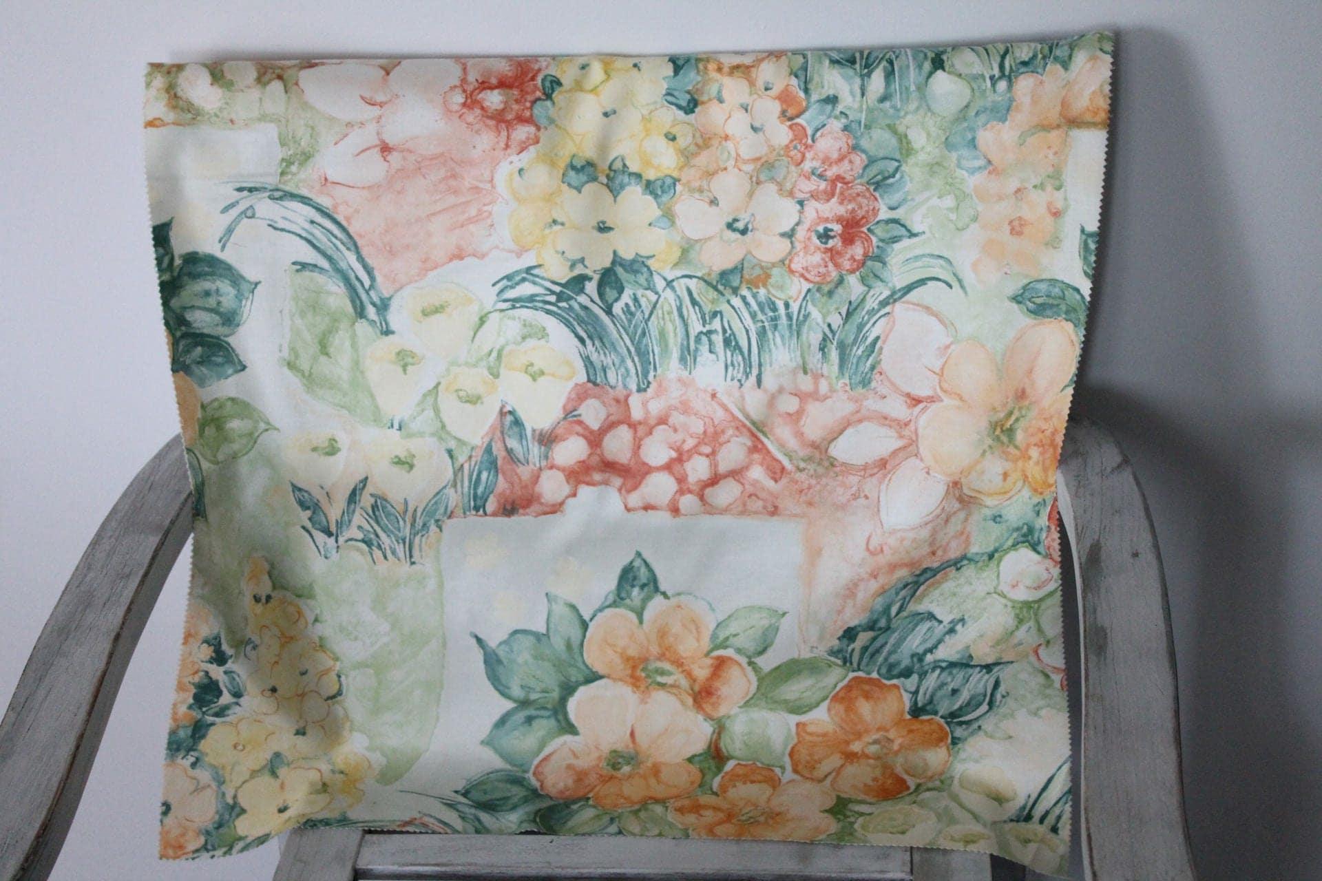 Coupon de tissu fleuri urge vintage shabby chic 100 coton - Tissu ameublement vintage ...