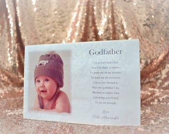 personalised godfather plaque gift present thank you christening handmade s-18 ANY WORDING