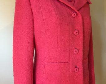 1960's Bergdorf Goodman 2 pc Dress Suit in pink.