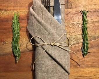 Natural linen napkins / Set of 4 / handmade