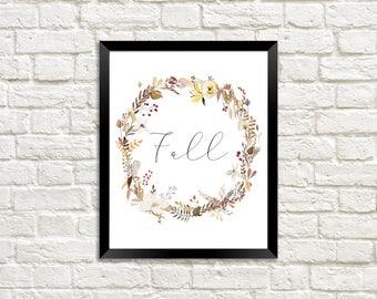 Fall Wall Print, Autumn Printable, Fall Wall Art, Fall Decor, Fall Print, Autumn Art, Autumn Wall Print, Hygge Print, Fall Printable