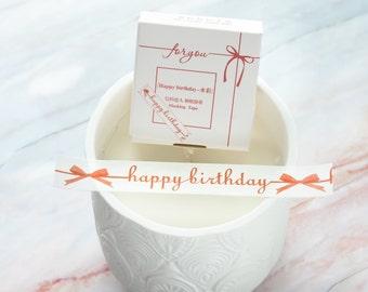 Happy Birthday Washi Tape 15mm/ Masking Tape/ Greeting Washi Tape