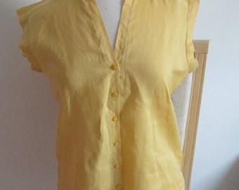 Yellow women shirt tunic