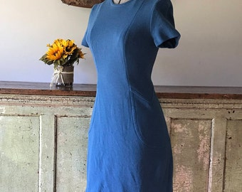 Beautiful Handmade Fitted Teal Dress - Size Small
