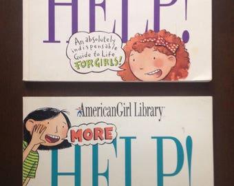 American Girl Vintage Big Book of Help, Set of Two, Vintage Children's Books, American Girl Library