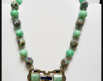 An  Absolutely Fabulous! repurposed Art Deco Czech necklace