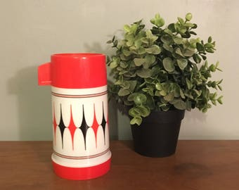 Red and White Aladdin Thermos