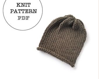 Knit Pattern / WOC Jameson Slouch Knit Pattern / whiteowlcrochetco Knit Pattern / whiteowlcrochetco Jameson Beanie Pattern / Beanie Pattern
