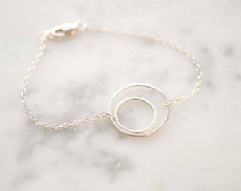 Double Circle Bracelet | Circle Bracelet | Moon Bracelet | Eclipse Jewelry | Gift For Her | Christmas Gifts Jewellery