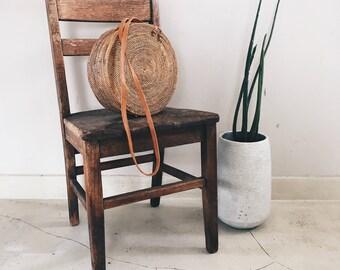 rattan round bag | round purse, natural purse, medium bag, bali bag