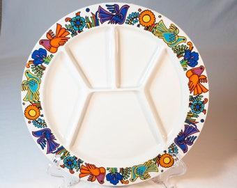 Fondue Plate Villeroy Boch Acapulco Pattern Discontinued 1992
